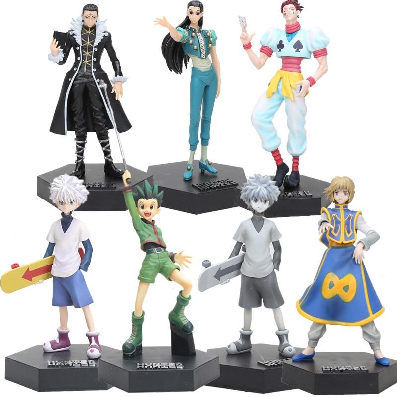 Japanese Anime Hunter X Hunter Figure Toys Gon Freecss Killua Zoldyck Kulolo Lushilufelu Irumi Zorudikku PVC Action Figure Toys