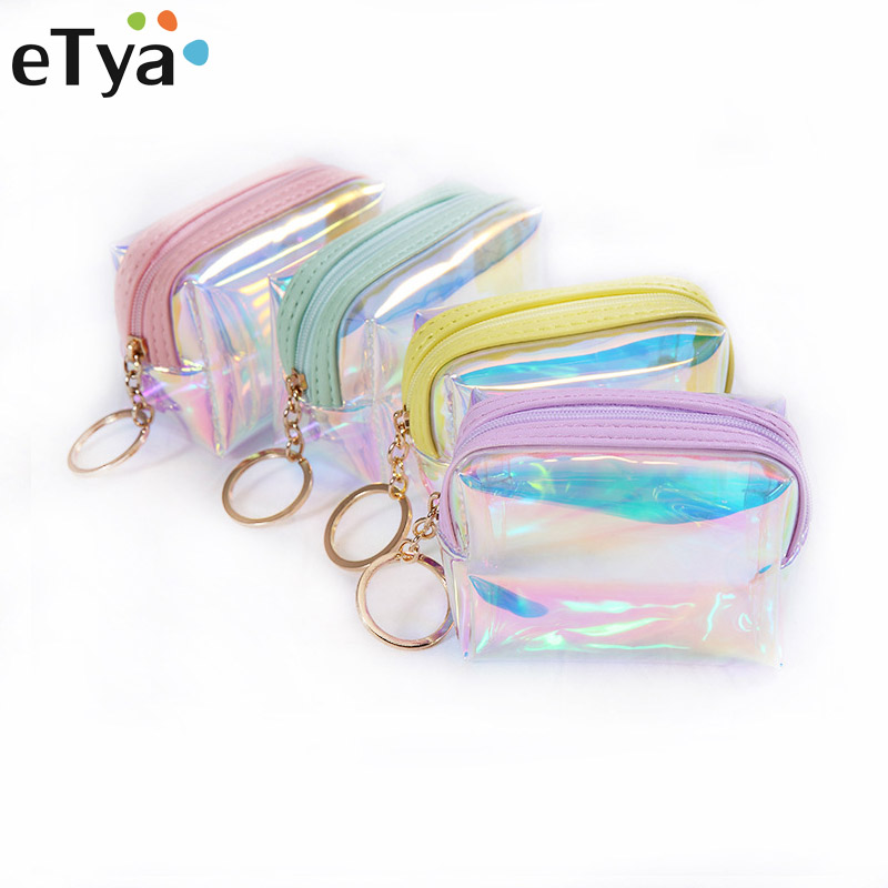eTya Trend Women Small Wallet Card Holder Zipper Coin Purses Clutch Handbag Fashion Female Purses Mini Cosmetics Storage Pouch etya cute cartoon purses pu leathe animal printing coin purses women wallet high quality zipper female credit card bag key pouch