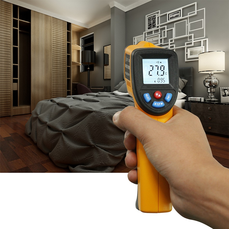 Neue LCD-Digital-IR Infrarot Thermometer Pyrometer BSIDE GM320 Temperatur Meter Gun Point-50 ~ 800 Grad Nicht- kontaktieren Termometr