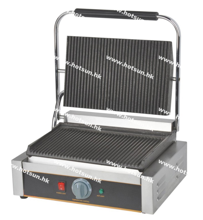 RIBBED 2200 W NEW PANINI MACHINE CONTACT GRILL TOASTER SANDWICH MAKER FLAT