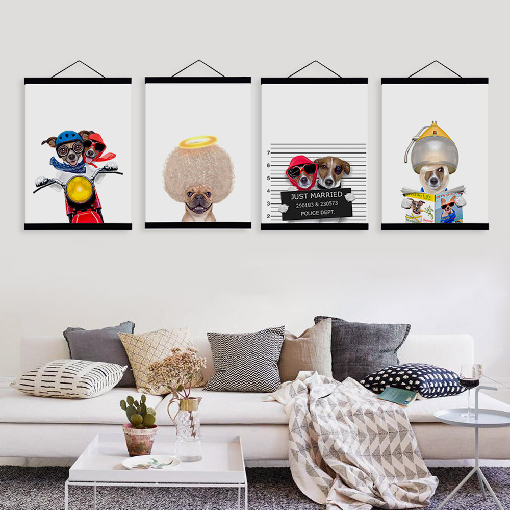Kawaii Cute Funny Dog Posters Prints Nordic Style Kids