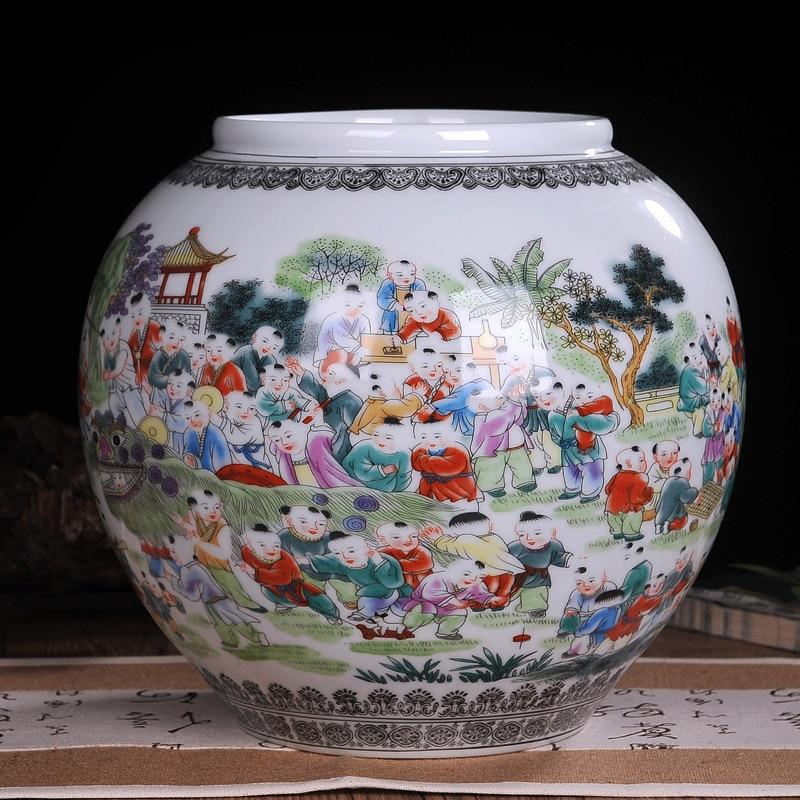 Wedding Gift Vase: Jingdezhen Ceramic Vase Ornaments Modern Chinese Beizitou