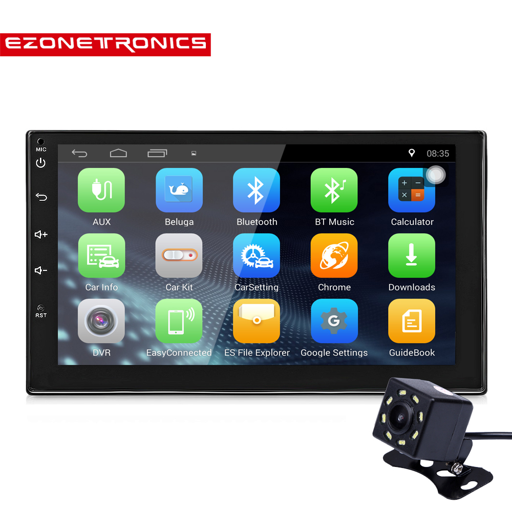 """Rear Camera Bluetooth Car Stereo Radio Android 7.1 2 DIN 7/"""" MP5 Player GPS Wifi"""