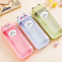 Freeshipping Carton Plastic Sunglasses Box Children Pencil Case Cute Eyeglass Case For Reading Glasses With Animal Image(China (Mainland))