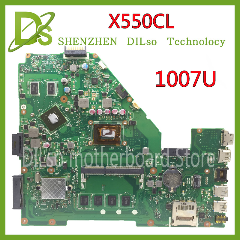 KEFU X550CL motherboard for ASUS X552C R510C R510CC Y582C laptop Motherboard 1007U motherboard Tested original motherboard ytai 1007u processor for asus x200ca laptop motherboard hm70 usb3 0 rev 2 1 with 1007u 4g ram mainboard fully tested