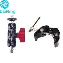 Adjustable Magic Arm Super Clamp with Dual 1/4 71mm / 74mm Ball Head Mount for DSLR Camera Motorcycle Car Bike Phone Holder Clip