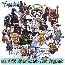 Nya 50 st Star Wars Cool Stickers för Laptop Bagage skateboard Bil Styling kylskåp Funny Graffiti Dekaler Cool DIY Sticker
