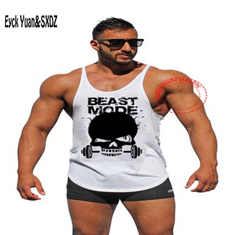 Men Gym ZYZZ Workout Stringer Sleeveless Cotton Bodybuilding Tank Top Vest Tee