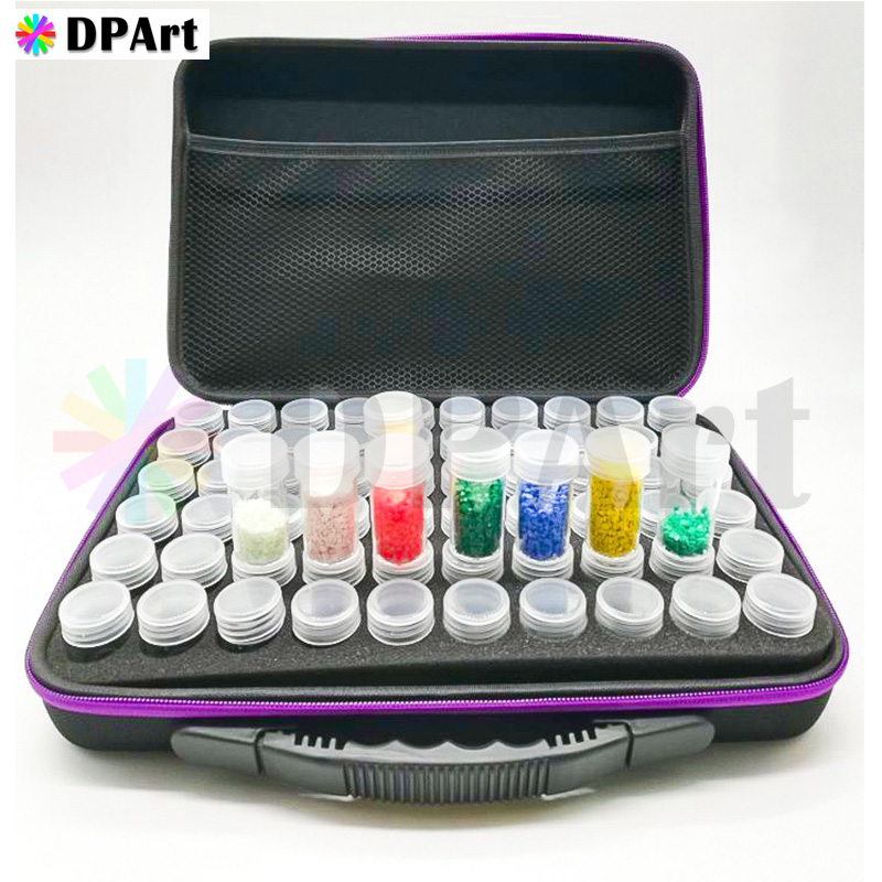 60 Bottles Diamond Painting Box Container Storage Full Square Carry Case Holder Storage Hand Bag Zipper Shockproof Durable M66660 Bottles Diamond Painting Box Container Storage Full Square Carry Case Holder Storage Hand Bag Zipper Shockproof Durable M666