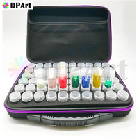 60 Bottles Diamond Painting Box Container Storage Full Square Carry Case Holder Storage Hand Bag Zipper Shockproof Durable M666