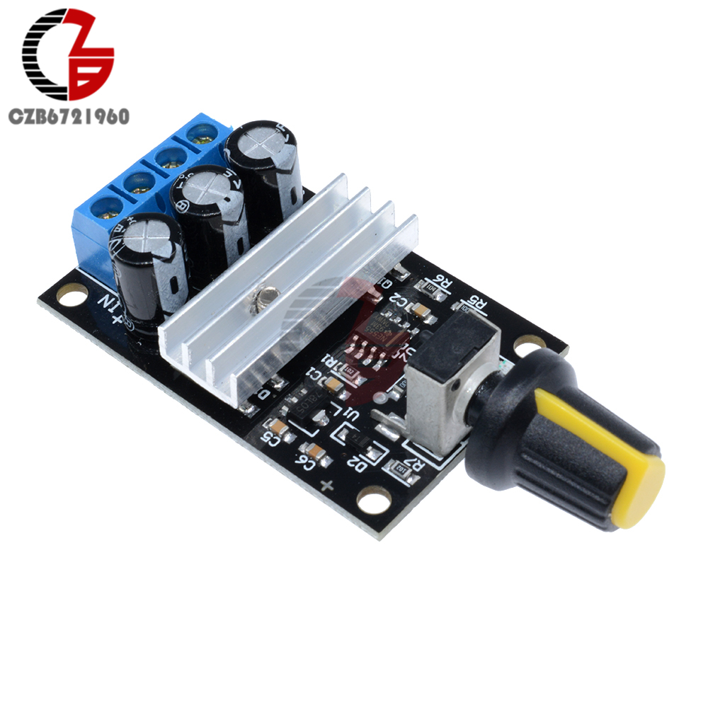 6-28V 3A 80W PWM DC Motor Speed Controller Regulator 12V 24V Adjustable Variable Speed Control With Potentiometer Switch