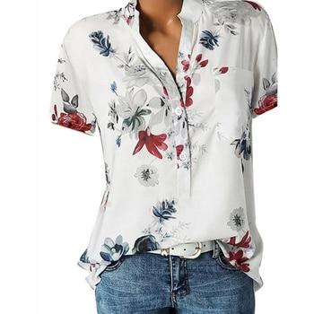 Elegant women's shirt printing large size  2