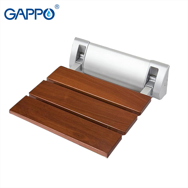 GAPPO Wall Mounted Shower Seats wall mounted bathroom chair folding bath seat solid wood bench wall chairs bathroom bench|Wall Mounted Shower Seats| |  - title=