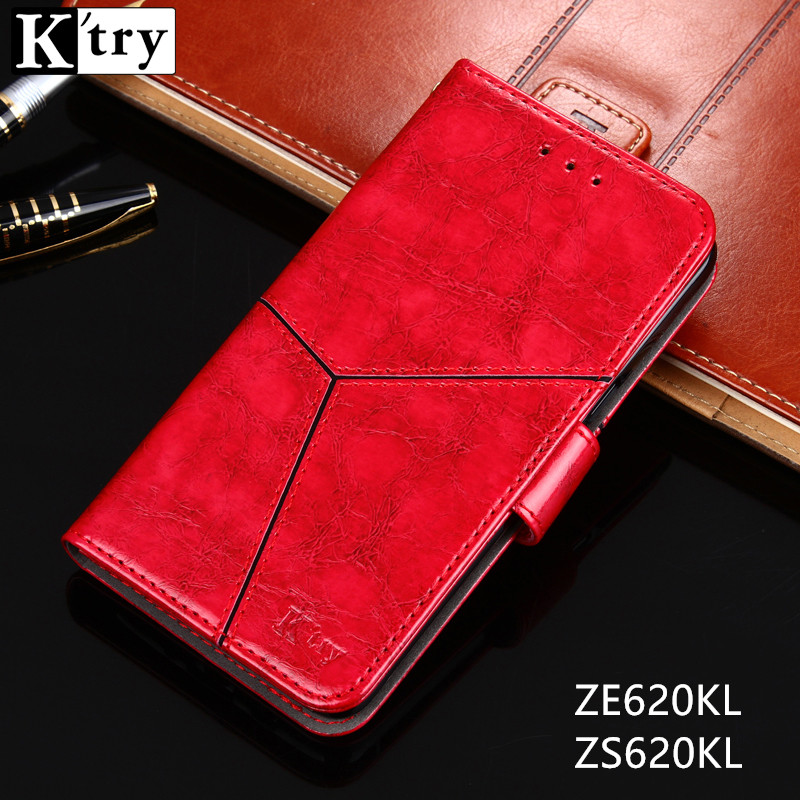 For Asus Zenfone 5Z ZS620KL Case K'try Vintage Pu leather + Silicon Wallet Flip Cover Capa For Asus Zenfone 5 ZE620KL Phone Case