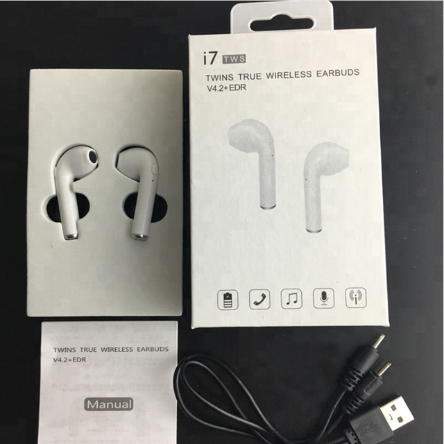 I7s Stereo Microphones Earpod BT Earphone Wireless For Iphone For Apple