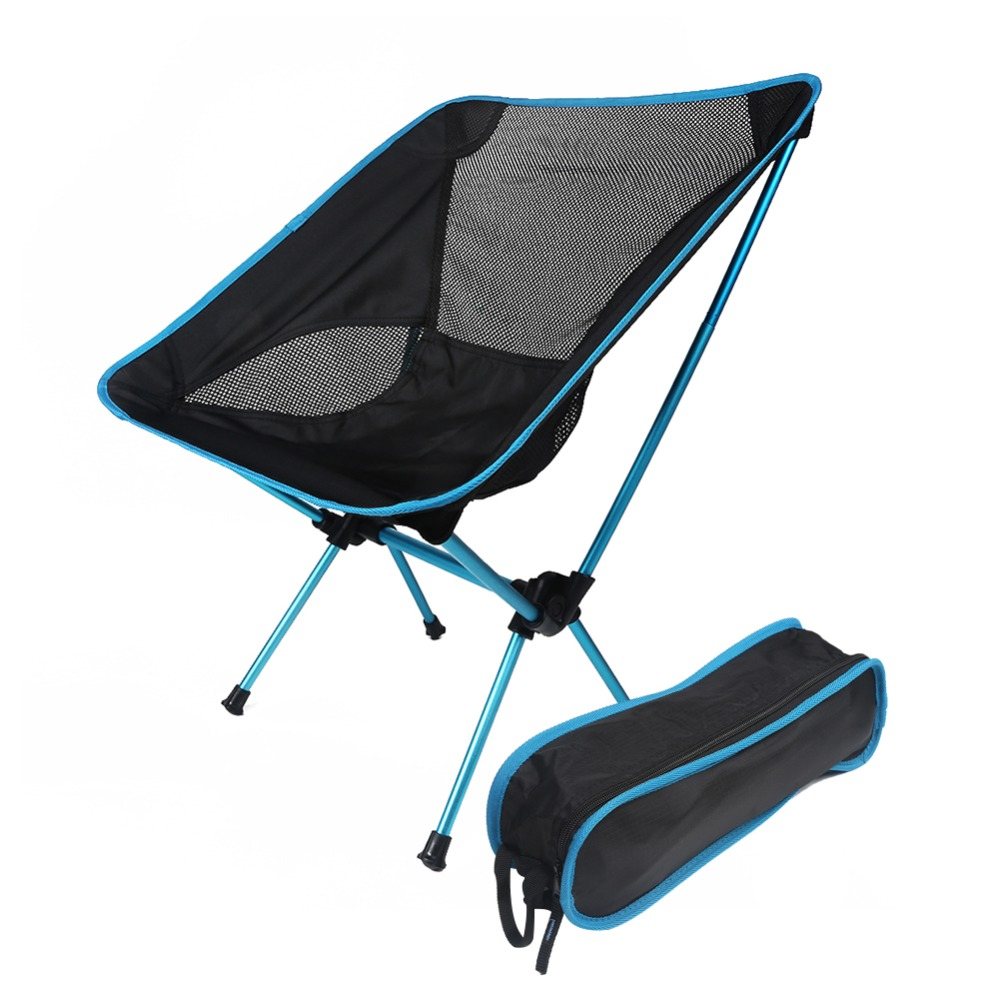 Lightweight camping chairs - Folding Moon Chair Portable Lightweight Outdoor Picnic Camping Fishing Festival Hiking Bbq Beach Seats Aluminum Lounge Chair