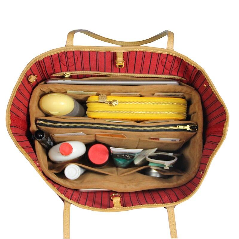 10b4e41015 US $36.9 |Customizable Velvet Bag Organizer Tote Purse Insert/Cosmetic  Makeup Diaper Belongings/Multi Pocket Bag in Bag Organizer For Tote-in  Cosmetic ...