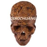 Статуя Восемь Диаграммы производит Апокалипсис серии капалу человеческого черепа кости ремесла 1:1 Смола кости черепа гравировка Коллекцио