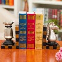 Шекспир Rui Европейский стиль древнего Шахматная Книга по США Античный Декор Модные подарки Подставки для книг украшения