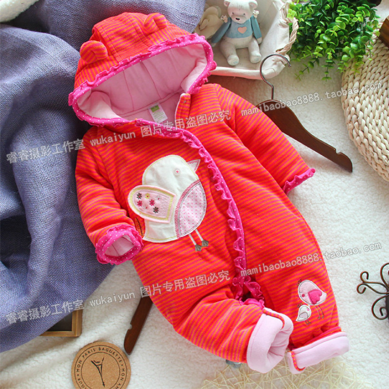 2017 winter baby girl bodysuit climb cotton baby clothing toddler infant fleece cotton padded. Black Bedroom Furniture Sets. Home Design Ideas