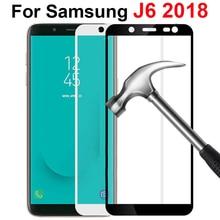 保護のための samsung J6 強化ガラスのための samsung galaxy J6 2018 プラススクリーンプロテクター J 6 J600 J600F j600G フィルム