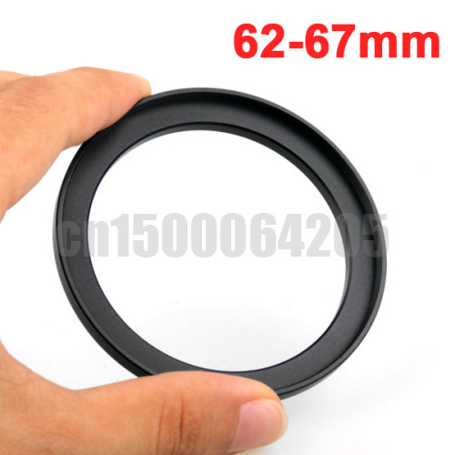10pcs 62mm-67mm 62-67mm 62 to 67 Metal Step Up Lens Filter Ring Stepping Adapter Black