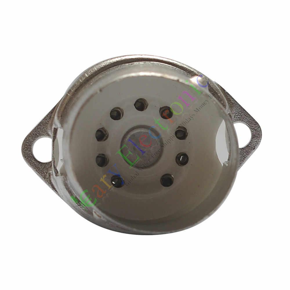 卸売と小売4ピース9ピンのセラミック真空管ソケットバルブ12ax7 12au7 6p1 el84オーディオampパーツ送料無料