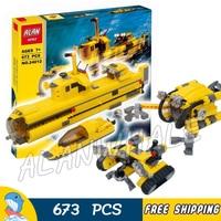 673pcs Creator Designer Set Ocean Odyssey Submarine Floor Crawler 24012 Figure Building Blocks Toys Compatible with LegoING