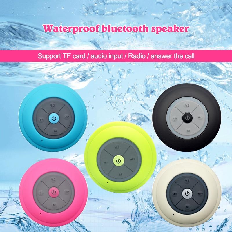 Waterproof Wireless Bluetooth Speaker Radio Fm font b Aux b font TF Card Portable Subwoofer Speakers