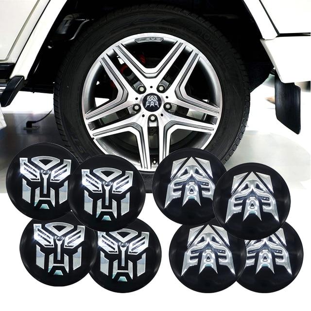 Auto Man Transformers Car Steering tire Wheel Center car sticker Hub Cap Badge Decals Symbol For Jaguar Hubcap Audi BMW Nissan