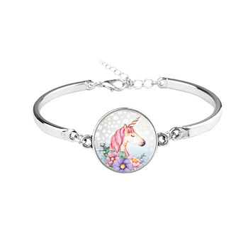 Unicorn Glass Charm Bracelet