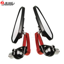 7/8 22mm handle bar Universal Pair Motorcycle  Rearview Mirror Handle bar End Side Mirrors For honda PCX 125/150 PCX125 PCX150 for ducati 695 696 796 1100 1200 universal motorcycle 7 8 22mm rearview mirror handle bar end blue side mirror silver