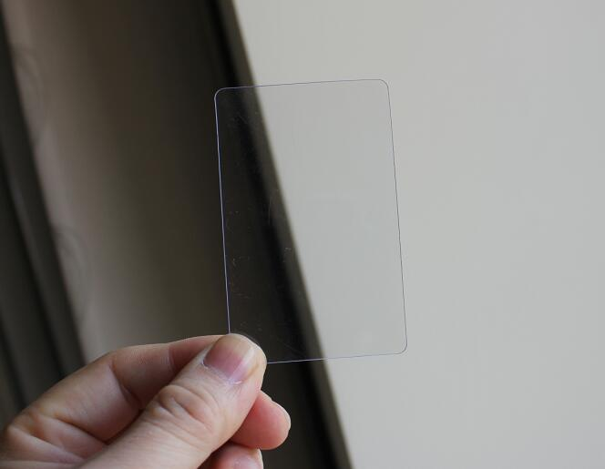 0.3mm Thickness Small Clear Transparent PVC Sheet Plain Blank Business Card 85*53mm 10/50/100pcs