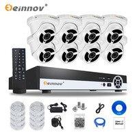 EINNOV 8CH 1080P POE NVR Kit 2MP IP Camera IR Night Vision Waterproof IP66 P2P Cloud