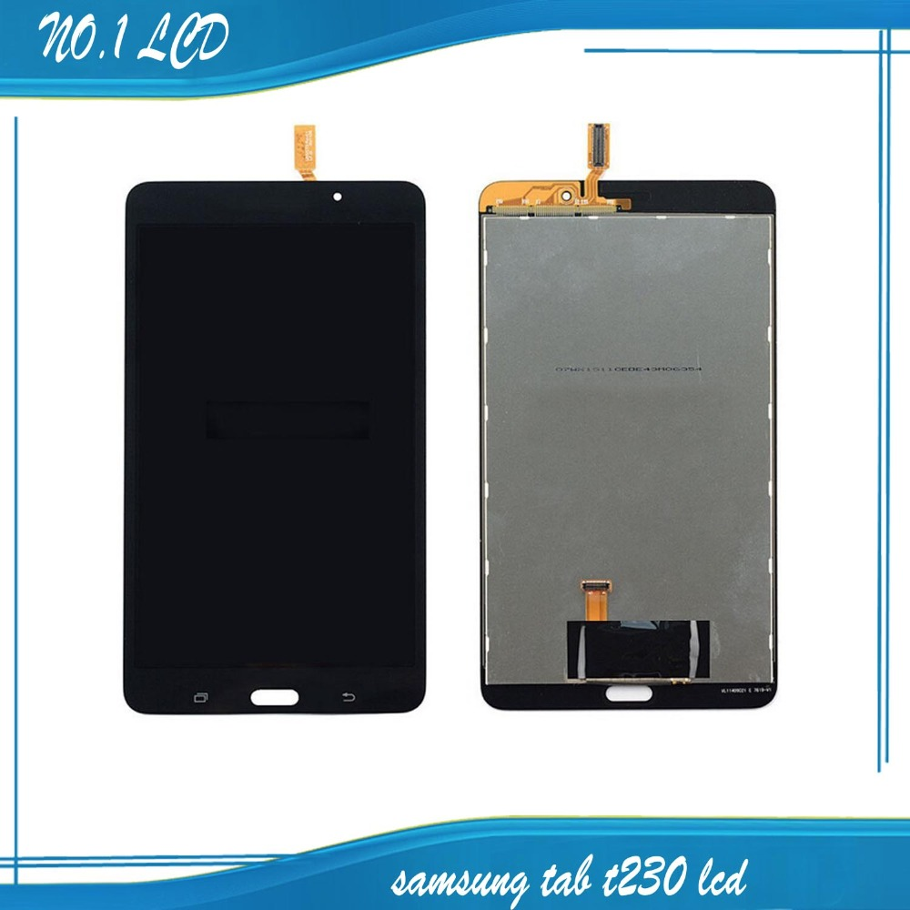 ФОТО for Samsung Galaxy Tab 4 7.0 SM-T230 T230 Full LCD Display Panel + Black Touch Screen Digitizer Glass Assembly Replacement