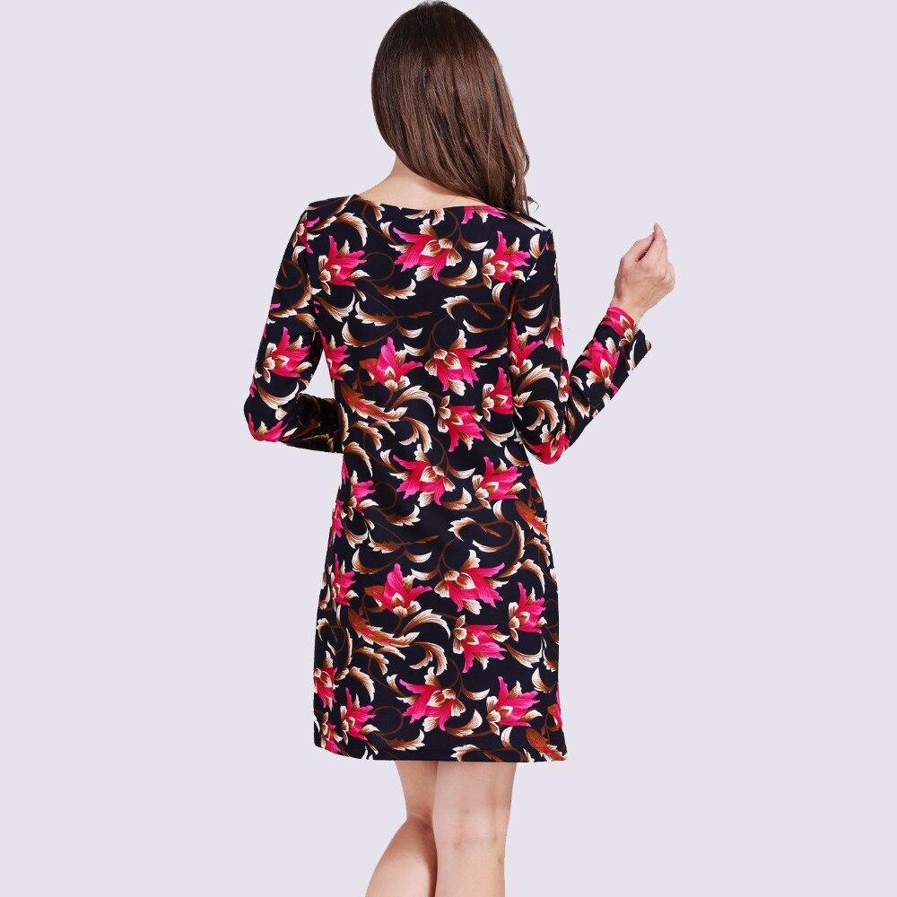 f51a8586b3c Idealark 2017 jurk Vrouwen Kleding Lente Mode Bloemenprint Jurk Dames Lange  Mouwen Casual Herfst Jurken Vestidos WC0592 in Idealark 2017 jurk Vrouwen  ...