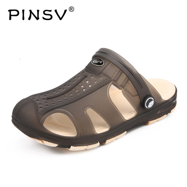 500c5bf378cd48 PINSV Summer Beach Sandals Men Outdoor Casual Sandals Breathable Men  Sneakers Men Casual Sneakers Mens Shoes Large Size