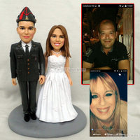 OOAK полимерной глины куклы детские свадебный пользу вечерние подарок для подруги бойфренда подарок для ребенка день рождения подарок мини с