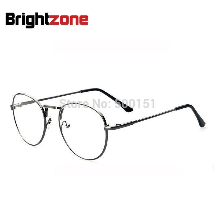 Designer brand Metal Earstem round anti-fatigue big nerd glasses men gafas eyewear optical frame women vintage frame eyeglasses