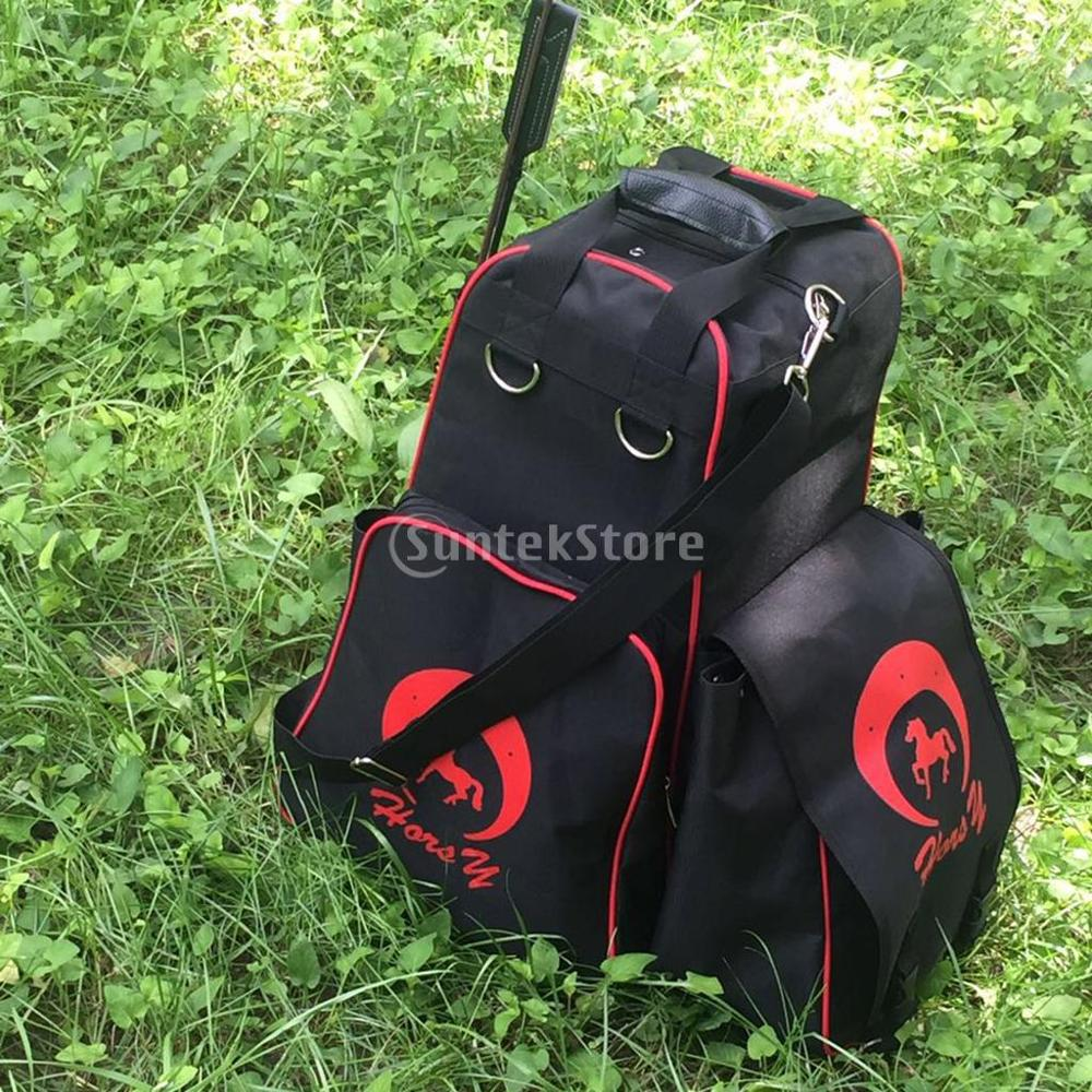 Купить с кэшбэком Oxford Horse Riding Boots Helmet Carry Bag Waterproof Equestrian Duffle Bag