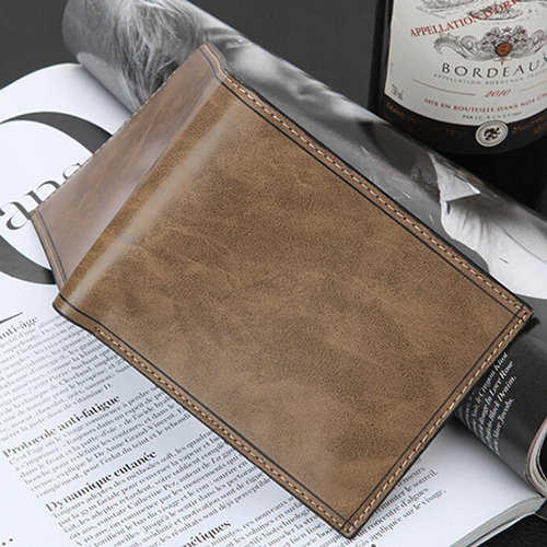 Men Faux Leather Bifold Purse Card Coin Holder Wallet Ultra-thin Clutch Billfold BVRF