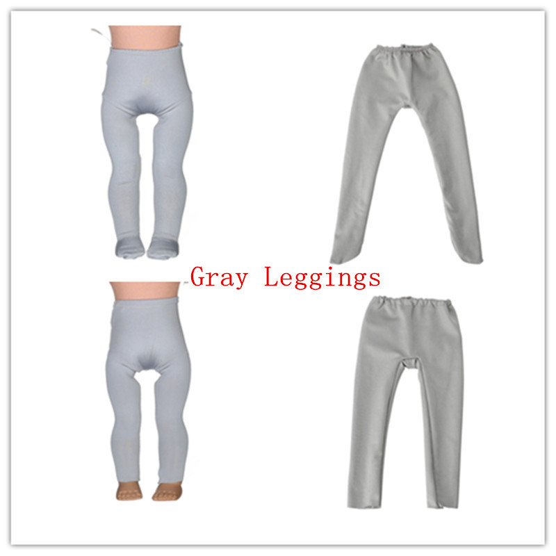 2 kinds Gray Leggings Tight Pants Fit 18 Inches American Girl Doll Baby Doll Clothes Accessories Handmade Fashion Pants Clothes