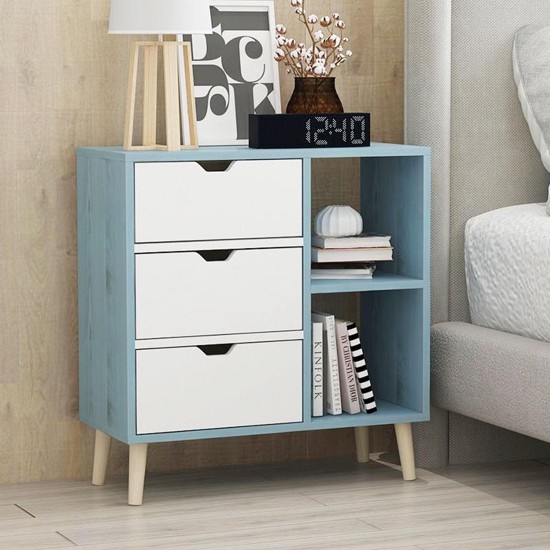Living Room Modern Coffee Table Solid Wood Leg Storage
