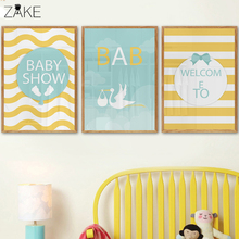 Cartoon Woodland Baby Canvas Prints Painting Nursery Wall Art Decor Kids Room Playroom Posters Decoration