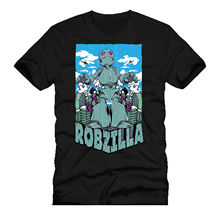 New T Shirts Funny Tops Tee Unisex TopsROBZILLA the robot monster dtg mens t shirt tees 2018 Newest Fashion