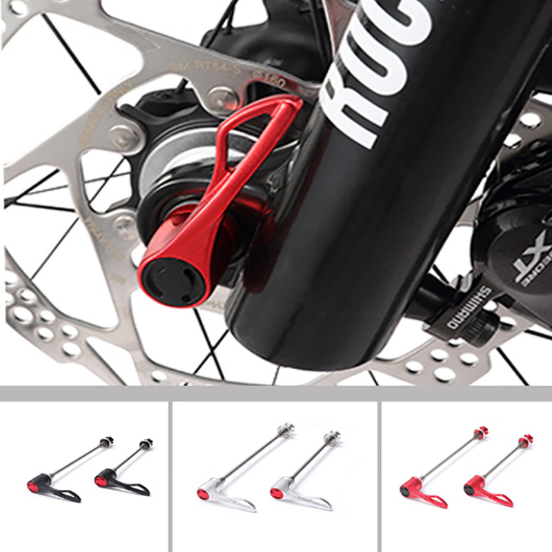 1Pair Titanium Ti Skewers Road Bike MTB Mountain bicycle Cycling Quick Release Lightest 65g/pair Red for Shipping