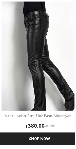 Men's Leather Pant Biker Pants Motorcycle Punk Rock Pants Tight Gothic Leather Pants  Slick Smooth Shiny Trousers Sexiest TJ01 12