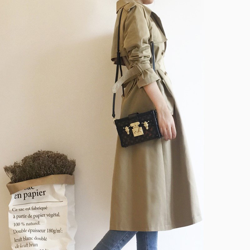 2018 Autumn Winter New Women's Casual trench Coat Oversize Double Breasted Vintage Washed Outwear Loose Clothing TR4 1