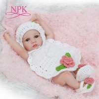 NPK new premie newborn cute small 12inch soft silicone vinyl real soft gentle reborn baby doll Christmas gift