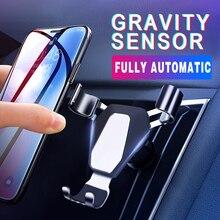 Soporte universal de teléfono para coche soporte en coche para iPhone X Samsung soporte de ventilación de aire teléfono móvil soporte GPS